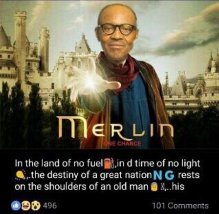 Funny Photo:- Have You Seen The Buhari Merlin Photo? You Need To See This